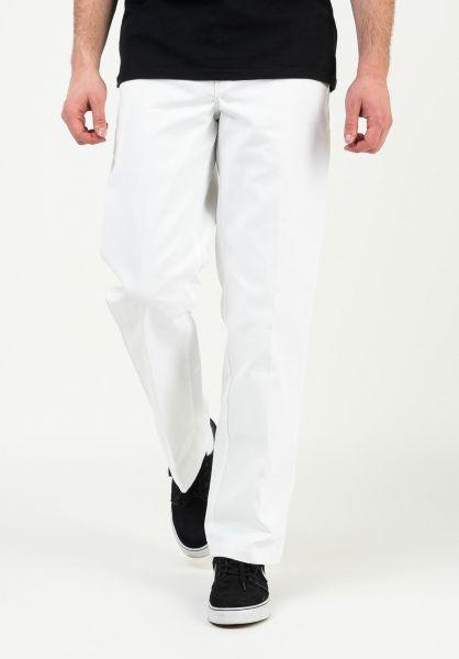 Dickies Chinos und Stoffhosen Original 874 Work Pant white vorderansicht 0054860