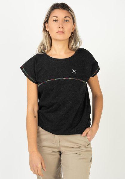 iriedaily T-Shirts Recov blackmelange vorderansicht 0322905