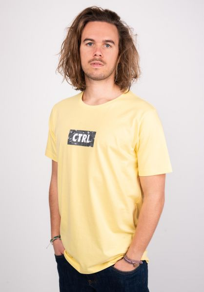Makia T-Shirts Box yellow vorderansicht 0383355