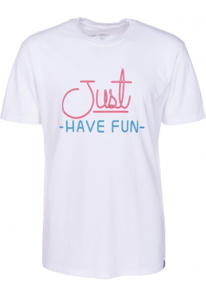 Just Have Fun T-Shirts Always Lit white-navy Vorderansicht