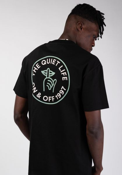 The Quiet Life T-Shirts Shhh Circle black vorderansicht 0399790