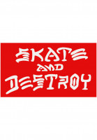 Thrasher-Verschiedenes-Skate-and-Destroy-Small-Sticker-red-Vorderansicht