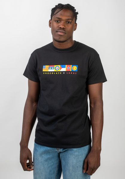 Lakai T-Shirts x Chocolate Flags black vorderansicht 0320826