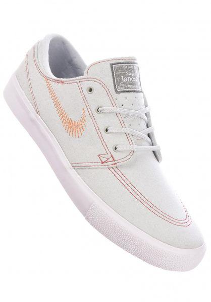 Nike SB Alle Schuhe Zoom Stefan Janoski Flyleather RM pureplatinum-monarch vorderansicht 0604783