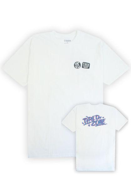 Tired T-Shirts Tired Zone! white vorderansicht 0320258