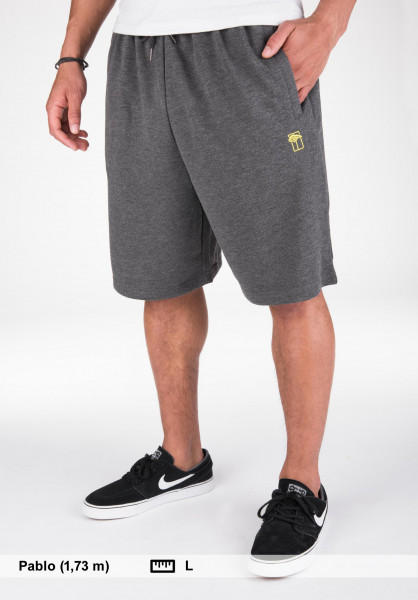 Mahagony Shorts T.O.L. Sweatshort blackmelange-poison Vorderansicht