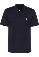 Carhartt WIP Polo-Shirts Chase Polo darknavy-gold Vorderansicht