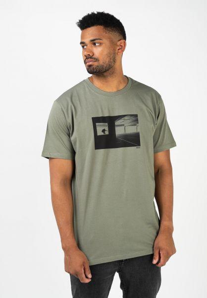 Reell T-Shirts Ollie Silhouette greygreen vorderansicht 0322670