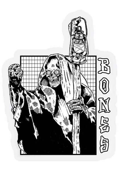 """Bones Wheels Verschiedenes Night Shift 4"""" Sticker white vorderansicht 0972408"""