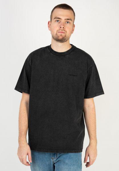 Carhartt WIP T-Shirts Mosby Script black vorderansicht 0323425