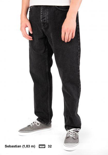 Carhartt WIP Jeans Newel Pant (Cropped) blackstonewashed vorderansicht 0227155
