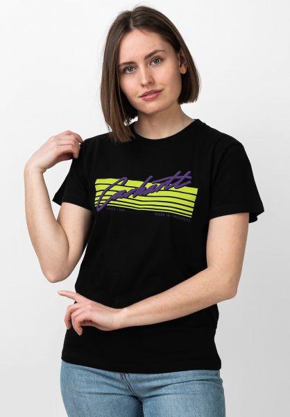 Carhartt WIP T-Shirts W´ Horizon black vorderansicht 0321031