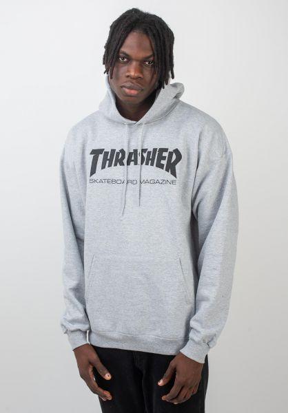 Thrasher Hoodies Skate-Mag greymottled vorderansicht 0440766