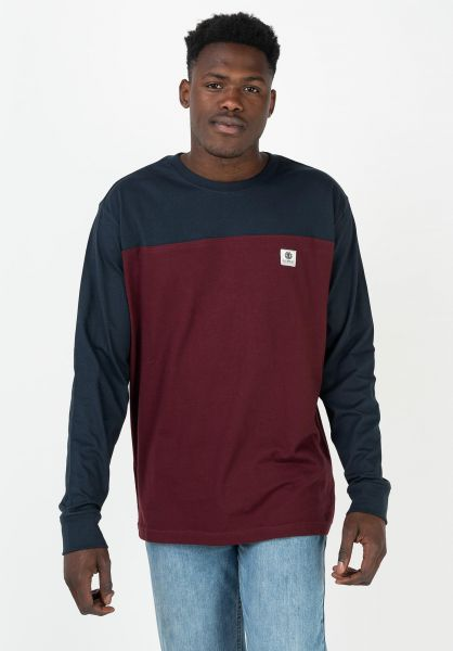Element Longsleeves Basic Baseball eclipsenavy vorderansicht 0383857