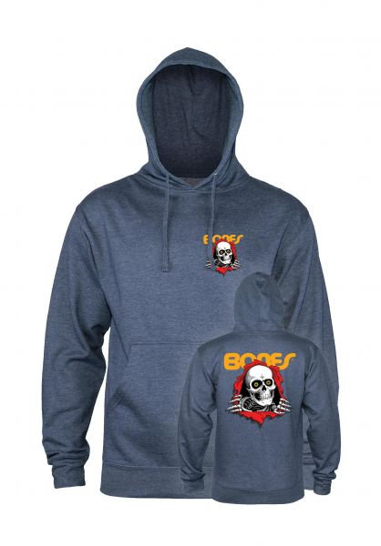 Powell-Peralta Hoodies Ripper navy-heather vorderansicht 0445457