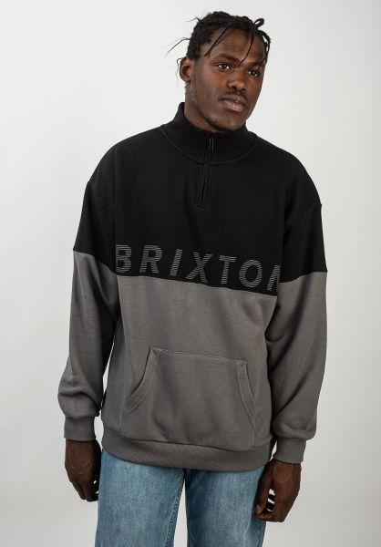 Brixton Sweatshirts und Pullover Dimension 1/2 Zip black vorderansicht 0422767