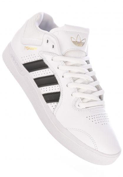 adidas-skateboarding Alle Schuhe Tyshawn white-coreblack-white vorderansicht 0604654