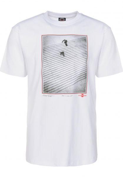 Independent T-Shirts Burnett/Jaws white Vorderansicht