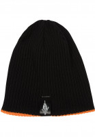 Independent Mützen Jessee Reversible Beanie black-orange Vorderansicht