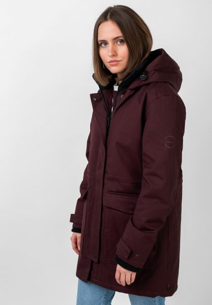 Forvert Winterjacken Aniak plum vorderansicht 0122432