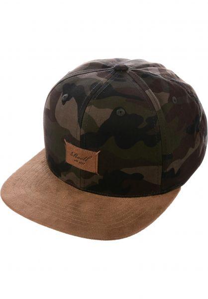 Reell Caps Suede 6-Panel camouflage Vorderansicht