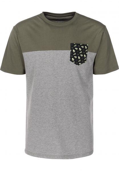 TITUS T-Shirts Avocado Pocket greymottled-olive rueckenansicht 0397371