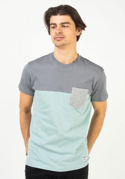 iriedaily T-Shirts Block Pocket charcoal vorderansicht 0394022