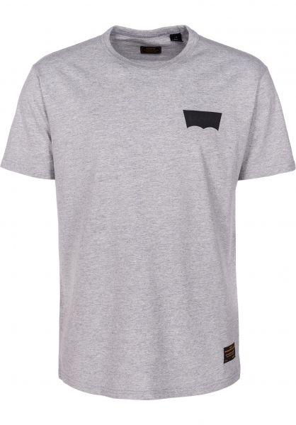 Levis Skate T-Shirts Skate Graphic heathergreycore-batwingblack vorderansicht 0398969