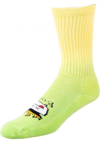 Psockadelic Socken Burnt green vorderansicht 0631747