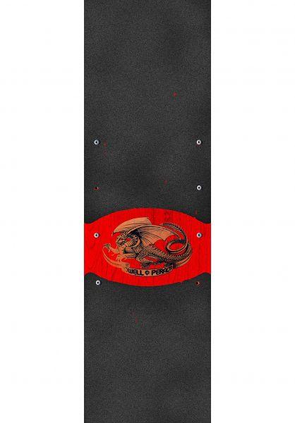 Powell-Peralta Griptape Oval Dragon black Vorderansicht