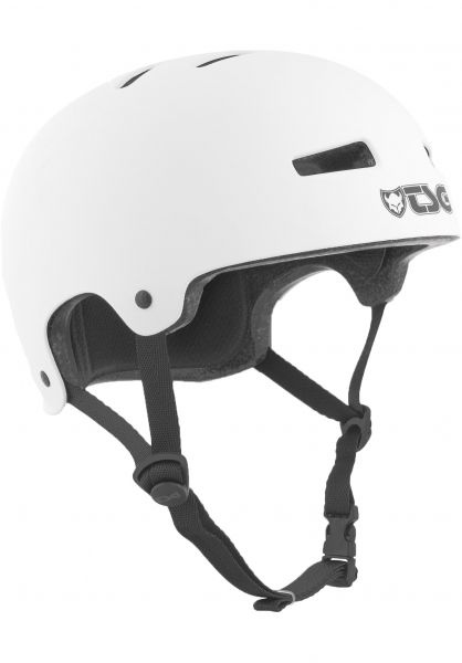 TSG Helme Evolution Kids Solid Color satin white Vorderansicht