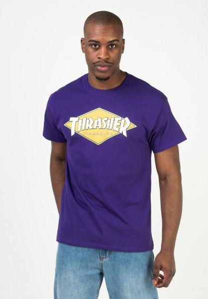 Thrasher T-Shirts Diamond Logo purple vorderansicht 0322661