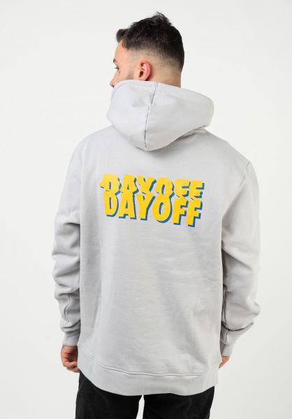 DAYOFF Hoodies Classic Back Logo grey-yellow-blue vorderansicht 0446168