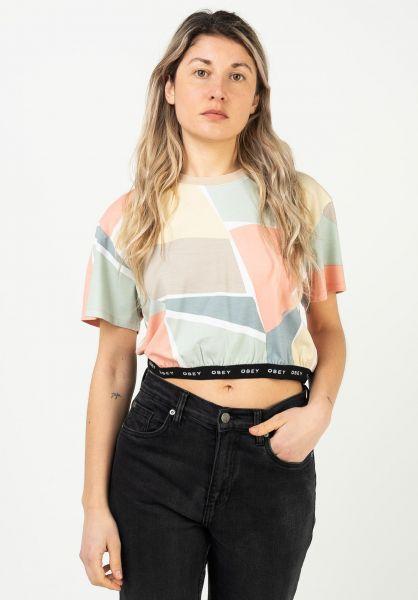OBEY T-Shirts Glen aspen peachmulti vorderansicht 0322859