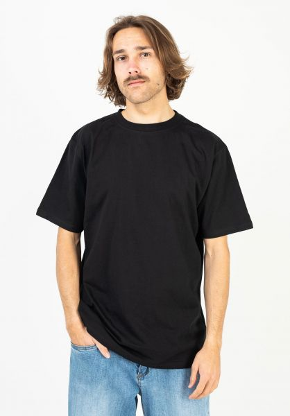 TITUS T-Shirts Blank black vorderansicht 0376816
