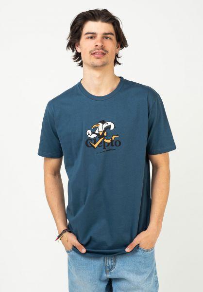 Cleptomanicx T-Shirts Thieves bluewing vorderansicht 0323009