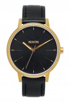 Nixon Uhren The Kensington Leather gold-black Vorderansicht