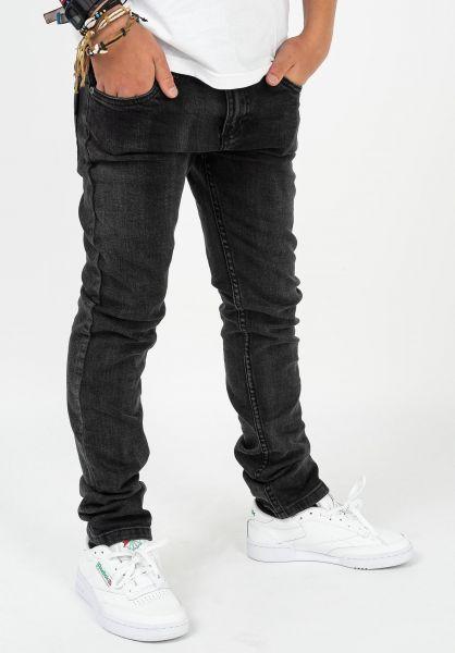 TITUS Hosen und Jeans Tube Fit Kids blackdenim-washed vorderansicht 0540901