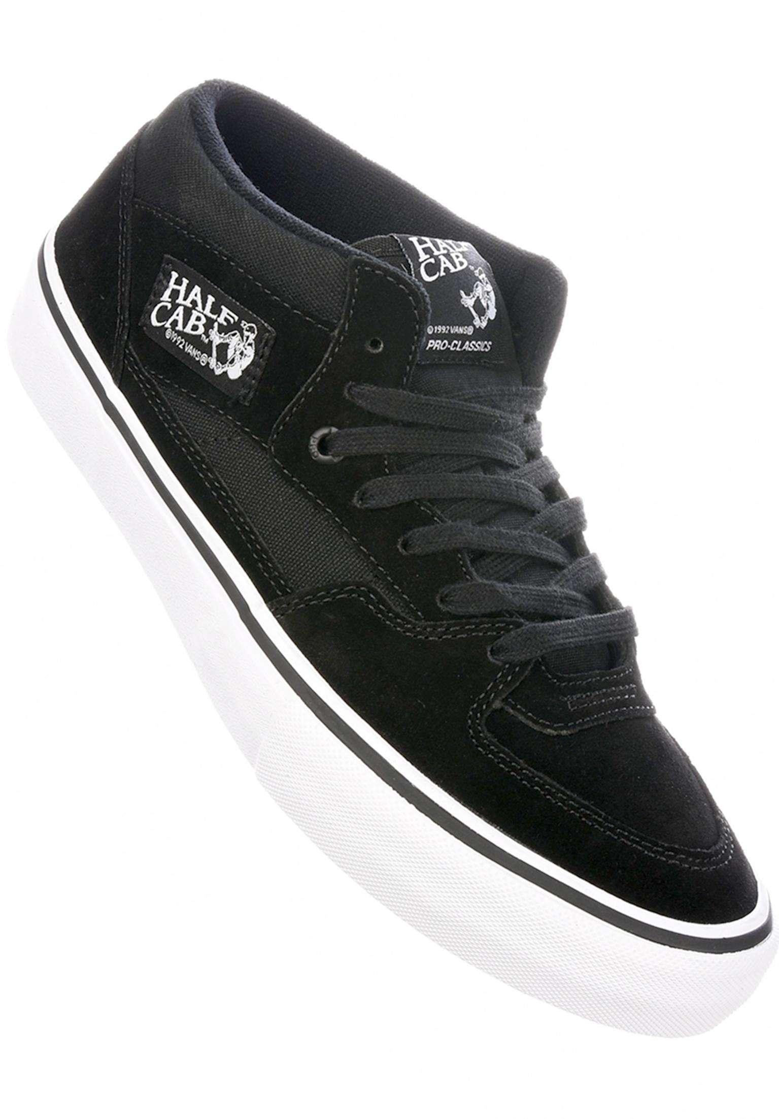 a6c78fe269 Half Cab Pro Vans All Shoes in black-black-white for Men