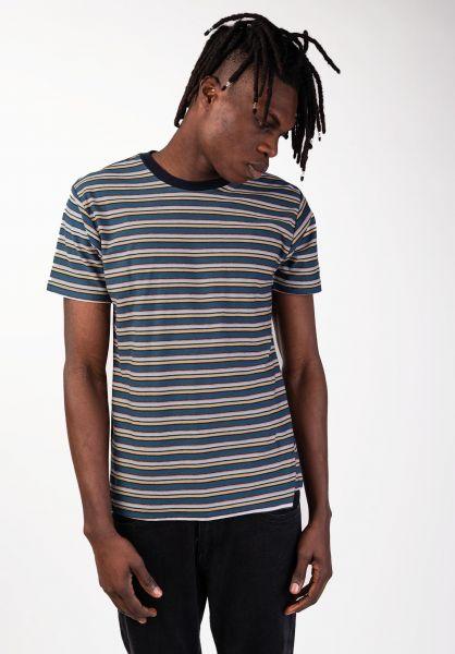 Billabong T-Shirts Die Cut Stripe darkblue vorderansicht 0397657