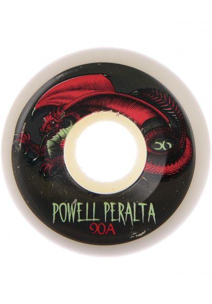 Powell-Peralta Rollen Oval Dragon 90A white-red vorderansicht 0132810