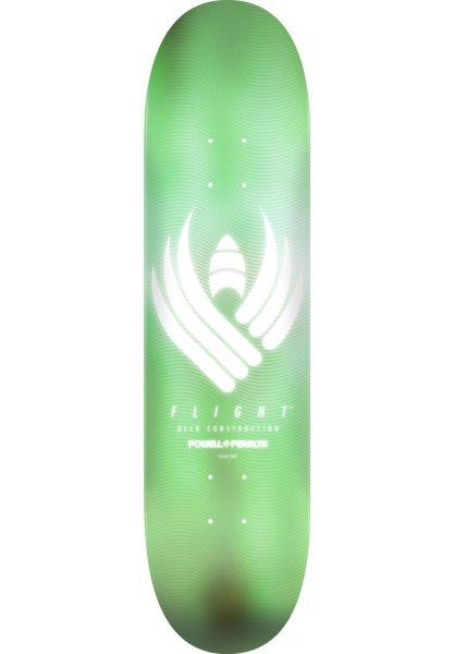 Powell-Peralta Skateboard Decks Flight Shape 248 Glow mint vorderansicht 0262101