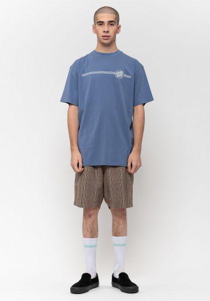 Santa-Cruz T-Shirts Opus Dot Stripe washednavy vorderansicht 0323261