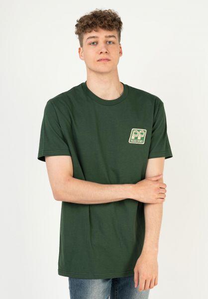 Passport Skateboards T-Shirts Bolt Patch forest vorderansicht 0324199