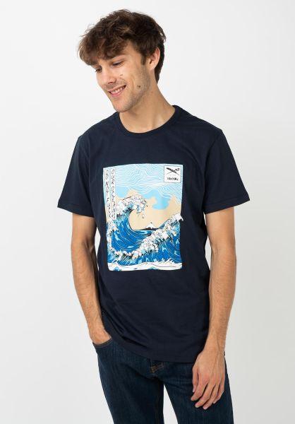 iriedaily T-Shirts Trash Wave navy vorderansicht 0322373