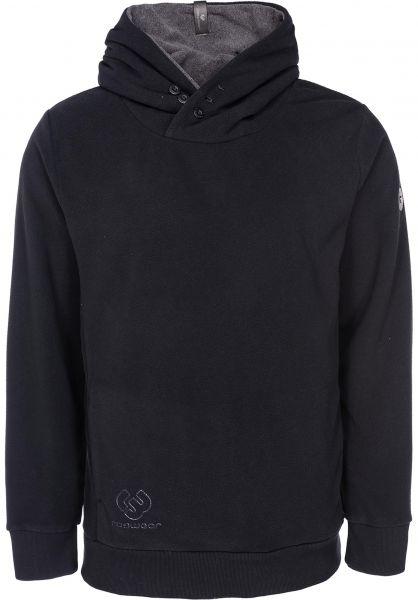 Ragwear Hoodies Chelsea Fleece black vorderansicht 0445043