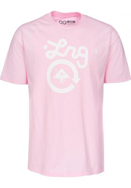 LRG T-Shirts LRG Cycle pink Vorderansicht