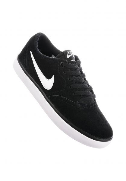 Nike SB Alle Schuhe Check Wmn black-white Vorderansicht