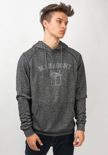 Mahagony Hoodies Brand Hood Sweater charcoalmelange vorderansicht 0454486