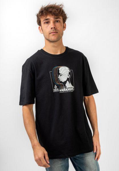 Volcom T-Shirts Gridlock black vorderansicht 0321562